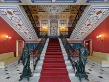 Das Haupttreppenhaus in Achilleions-Palast, Korfu, Griechenland 2 Lizenzfreies Stockfoto