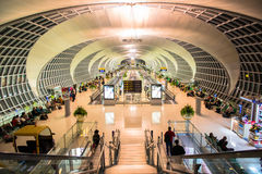 Das Hauptzusammentreffen von Suvarnabhumi-Flughafen Lizenzfreie Stockbilder