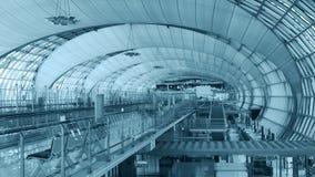 Das Hauptzusammentreffen von Suvarnabhumi-Flughafen, stockfoto