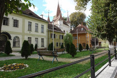 Das Haus in Brasov. Stockfoto