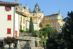 Das Haus, in dem der berühmte Verfasser Hermann Hesse lebte lizenzfreies stockfoto