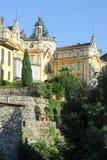 Das Haus, in dem der berühmte Verfasser Hermann Hesse lebte stockfotografie