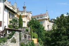Das Haus, in dem der berühmte Verfasser Hermann Hesse lebte stockbild