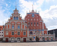 Das Haus der Blackheads, Riga, Lettland. Stockfotografie