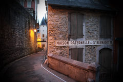 Das Haus der Eltern des Heiligen Bernadette Lizenzfreie Stockfotografie