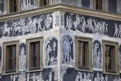 Das Haus an der Minute in Prag Stockfotografie