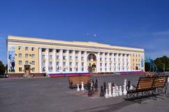 Das Haus der Regierung Ulyanovsk-Region, Russland, am 7. August 2012 Lizenzfreie Stockfotografie