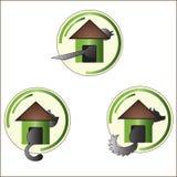 Das Haus für Vögel und Tiere lizenzfreie abbildung