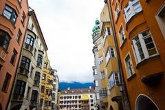 Das Haus mit einem Golddach in der Stadt von Innsbruk in Tirol, Aus lizenzfreie stockfotografie