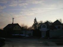 Das Haus mit Pfosten Lizenzfreie Stockfotografie