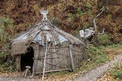 Das Haus vom Stroh in Forest Park Lizenzfreie Stockfotografie