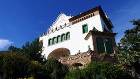 Das Haus von Trias im Park Guell von Barcelona Lizenzfreie Stockfotos