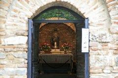Das Haus von virgine Mary in Ephesus Stockbilder