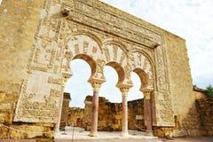 Das Haus von Yafar, arabischer Palast von Medina Azahara, Cordoba, Andalusien, Spanien Lizenzfreie Stockfotos
