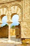 Das Haus von Yafar im arabischen Palast von Medina Azahara, Cordoba, Andalusien, Spanien Lizenzfreies Stockfoto