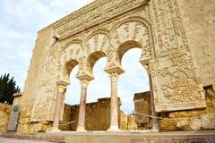Das Haus von Yafarin der arabische Palast von Medina Azahara, Cordoba, Andalusien, Spanien Lizenzfreie Stockfotografie