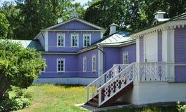 Das Hausmuseum von Spasskoe-Lutovinovo Stockfoto