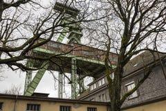 Das headframe des Bergwerkes Georg in Willroth, Deutschland Lizenzfreies Stockfoto