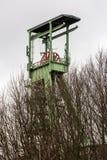 Das headframe des Bergwerkes Georg in Willroth, Deutschland Lizenzfreie Stockbilder