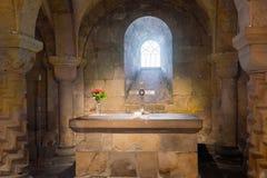 Das heilige Altarbild in Lund-Kathedrale stockfotos