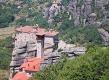 Das heilige Kloster von Rousanou, Meteora, Griechenland Lizenzfreies Stockbild