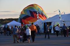 Das Heißluft-Ballon-Festival 2016 Adirondack Stockbild