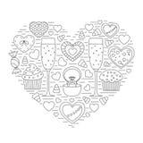 Das Herz der Elemente vektor abbildung
