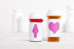 Das Herz-Gesundheit der Frauen Lizenzfreies Stockbild