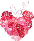 Das Herz von Rosen lizenzfreie abbildung