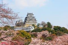 Das Himeji-Schloss, Japan stockbilder