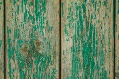 Das Hintergrundbild des alten grünen hölzernen Brettes Beschaffenheit Stockfotografie