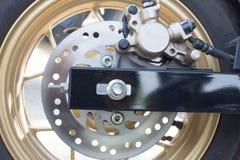 Das Hinterrad des Scheibenbremse-Motorrades Lizenzfreies Stockbild
