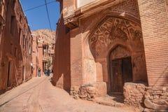 Das historische Dorf von Abyaneh, der Iran Lizenzfreie Stockfotos