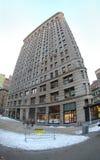 Das historische flache Eisen-Gebäude in New York City, New York USA Stockfotos