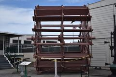 Das historische Schaufelrad des Now vom Dampfer Petaluma, 1 stockfotos