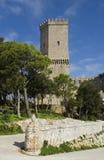 Das historische Schloss von Erice in Sizilien Lizenzfreie Stockbilder