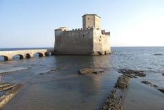 Das historische Schloss von Torre Astura Lizenzfreies Stockbild