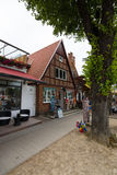 Das historische Viertel von Rostock - Warnemunde Stockfotografie