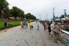 Das historische Viertel von Rostock - Warnemunde Lizenzfreies Stockfoto