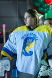 Das Hockey der Frauen in Ukraine Stockbild