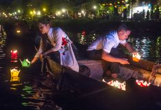 Das Hoi An Full Moon Lantern-Festival Stockfotos