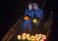 Das Hoi An Full Moon Lantern-Festival Stockbilder