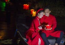 Das Hoi An Full Moon Lantern-Festival Stockfotografie
