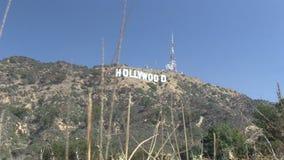 Das hollywood-Zeichen stock video