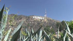 Das hollywood-Zeichen stock video footage