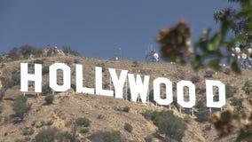 Das hollywood-Zeichen stock footage