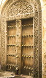 Das Holz-Portal Stockfotos