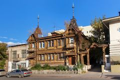 Das Holzhaus des Adligs Yu I Poplavsky Lizenzfreie Stockfotografie