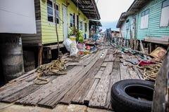 Das Holzhaus in Meer Lizenzfreie Stockfotos