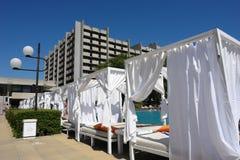 Das Hotel auf den goldenen Sanden. Bulgarien. Lizenzfreies Stockbild